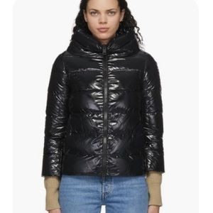 HERNO SSENSE Black Down Feather Puffer Coat 38 XS